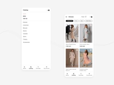 SL.IRA fashion brand | mobile app catalog | concept