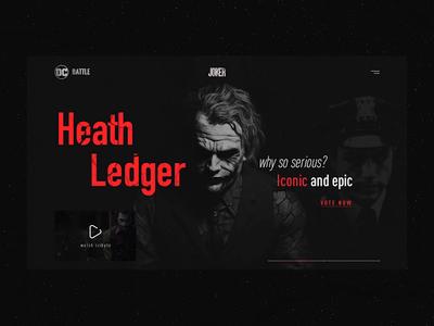 DC BATTLE award. Website concept
