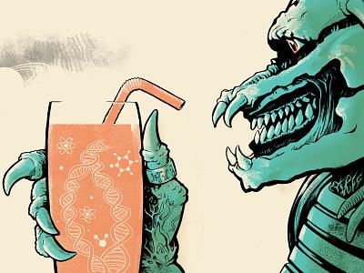 The Future Food ill future shake food and drink food alien illustration