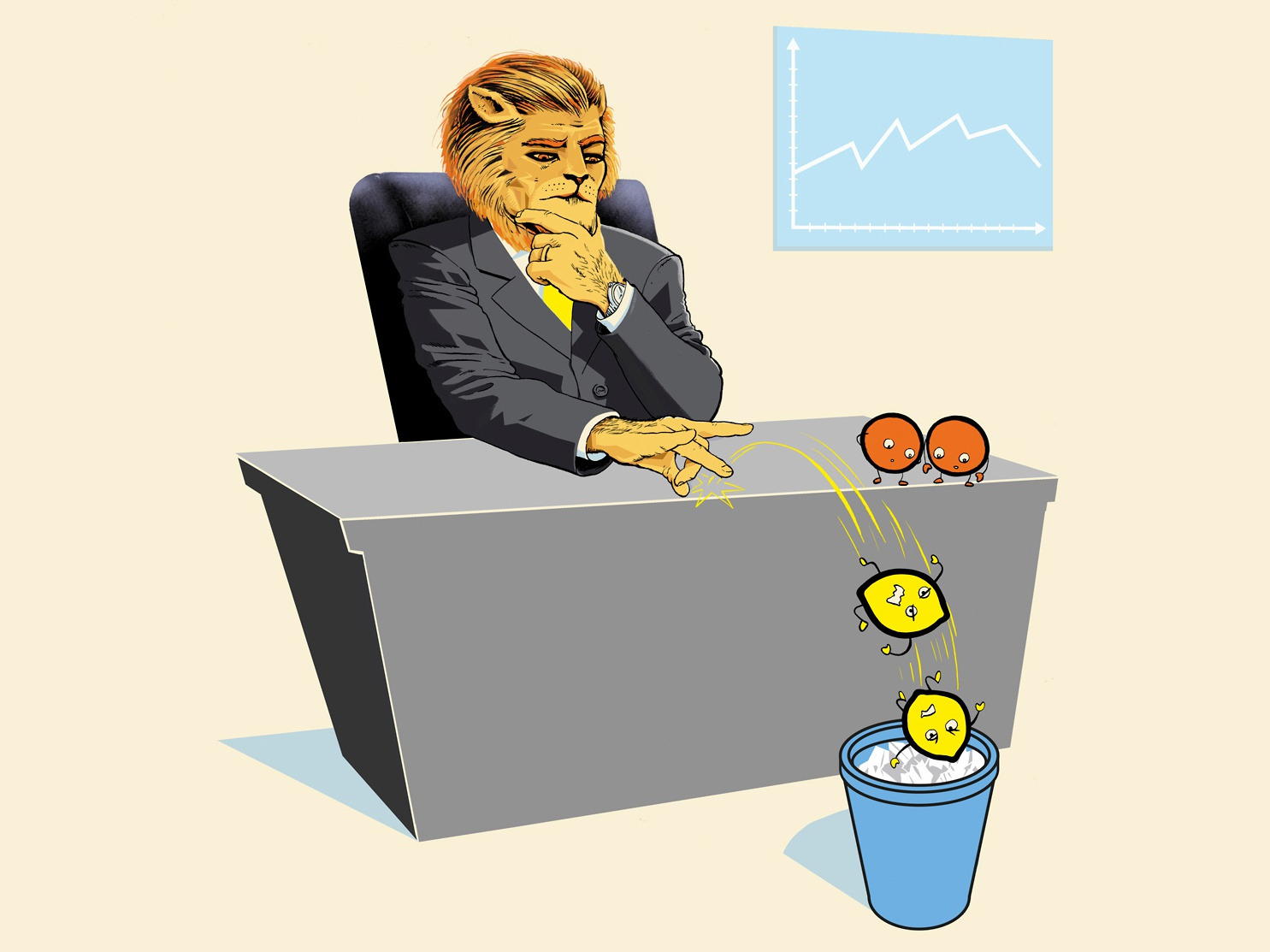 Types Of Leaders ceo leading business leaders lion boss leader editorial character illustration