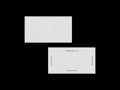 My New Business Card air minimal business card