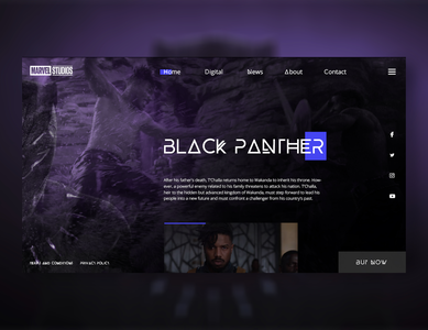 Black Panther UI concept