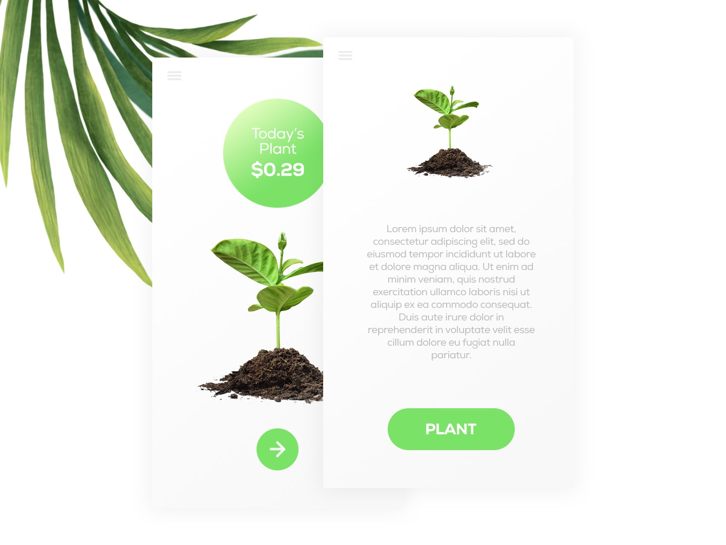 Seedly App UI Design world forests nature white minimal ui  ux green tree plant