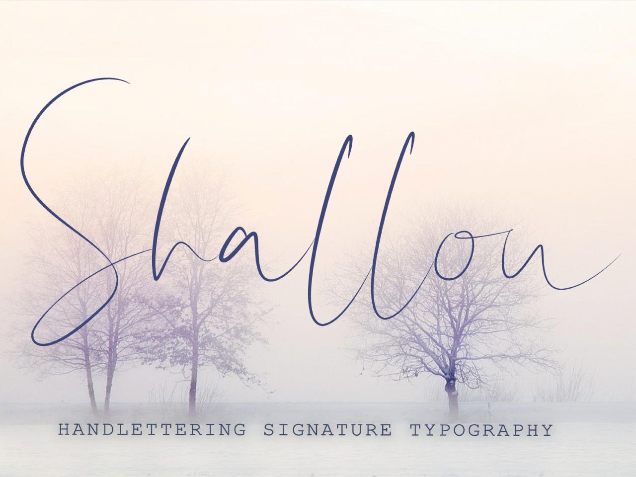 Shallou Script Font typeface design typeface cursive font script font modern font signature font caligraphy handlettered handwritten font font script cursive