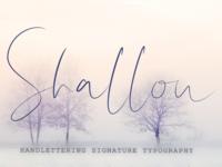 Shallou Script Font