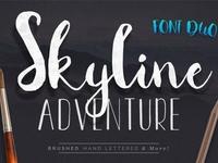 Skyline Adventure Font Duo