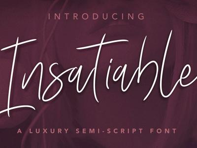 Insatiable Script Font