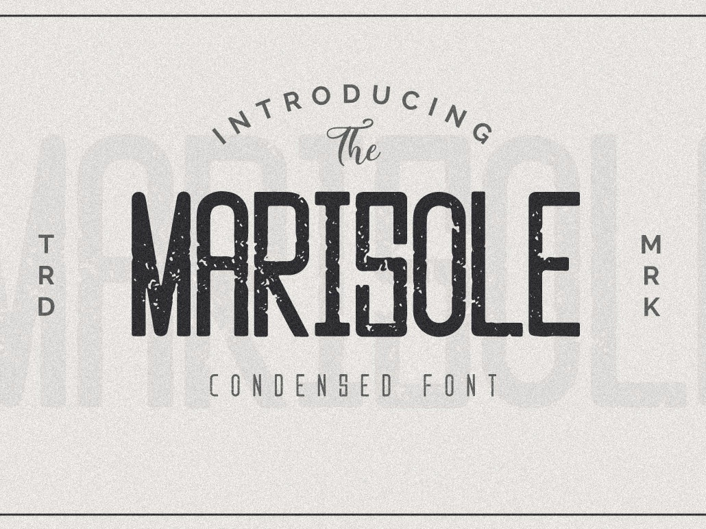 Marisole Condensed Font sans serif whisky beer alcohol rugged vintage retro design blogging headline packaging branding illustration logo design font design handwritten font modern font