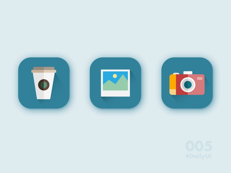 Daily UI Challenge 005 - App Icon daily ui 005 flat design illustration daily ui challenge daily 100 challenge application app icons app icon