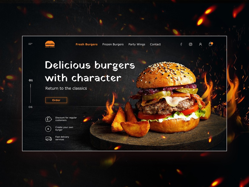 Concept for burger store