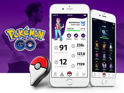 Pokémon Go Redesign - Physical Activity Extension iot pokewalker plus quantified-self running ux ui go pokemon