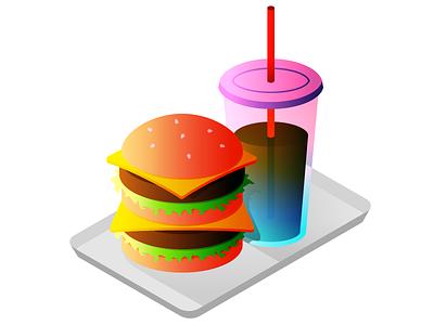 My Big Burger illustration soda food burger