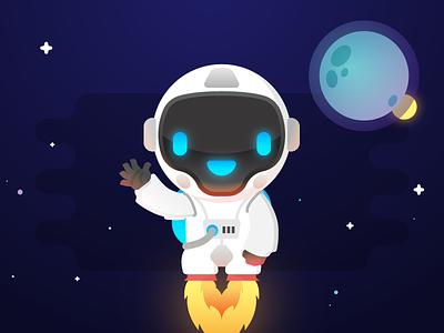 Say Hello to Navi ! :) cosmonaut astronaut space articial intelligence ai bot comet navi