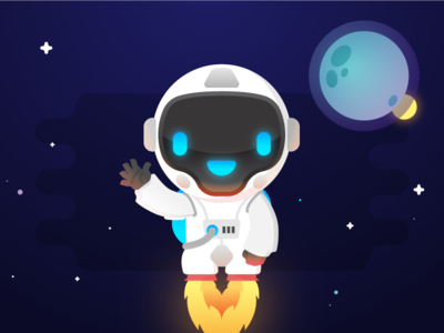Say Hello to Navi ! :) cosmonaut astronaut space articial intelligence ai bot comet navi