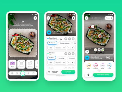 The first AI Food assistant for your meal 🥑🤖 health app ui ux food app food ai