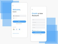 Simple Sign In / Sign Up Screen