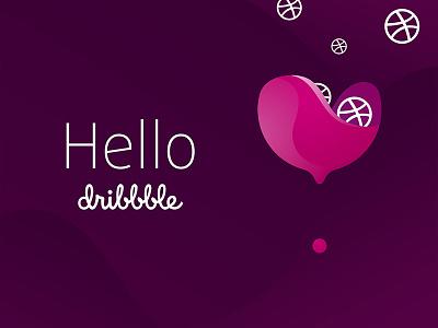 Hello Dribbble / Logo Winelove logo wine itsvelestime winelove hello color debut