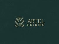 Dribbble artel holding logo 04