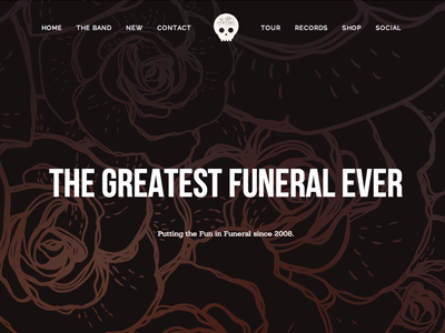 The Greatest Funeral Ever site web band skull