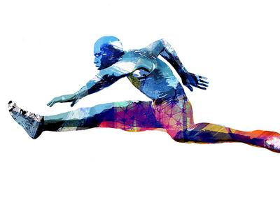 Running for Change illustration run runner change texture fast jump