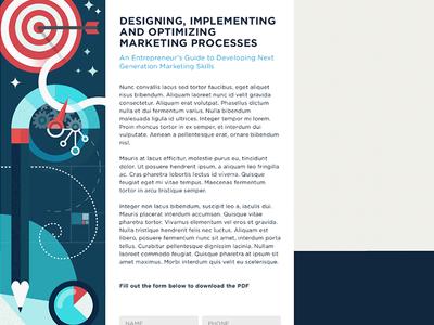 Design, Implement, Optimize illustration vector web flat marketing optimization seo bullseye