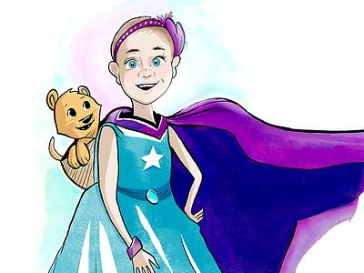Lydia hero superhero girl four-diamonds andculture character