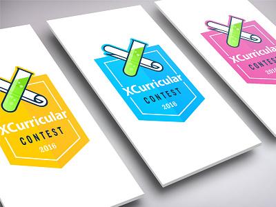 Xcurricular science contest kids education logo badge