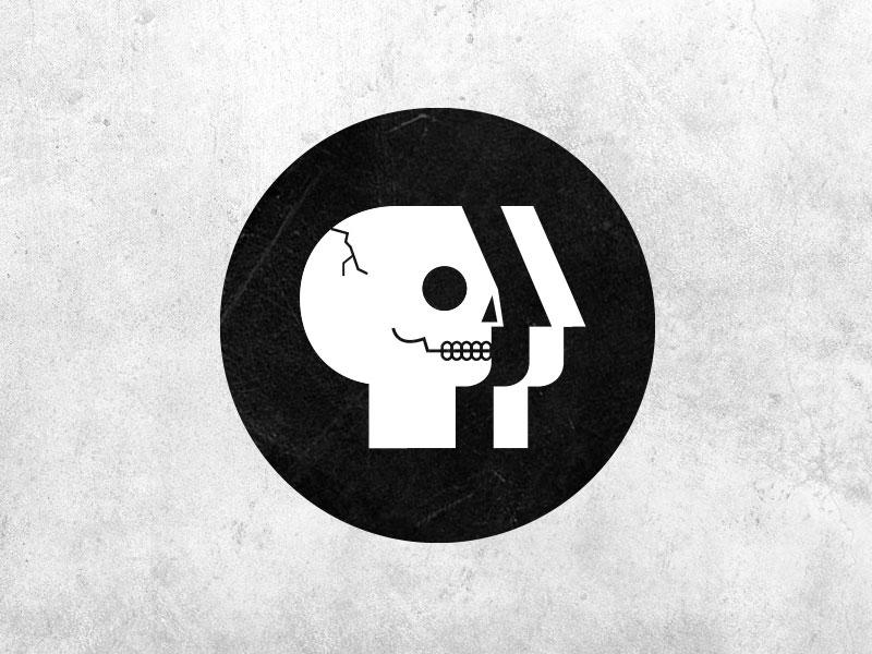 tote bag? pbs arts skull illustration editorial logo