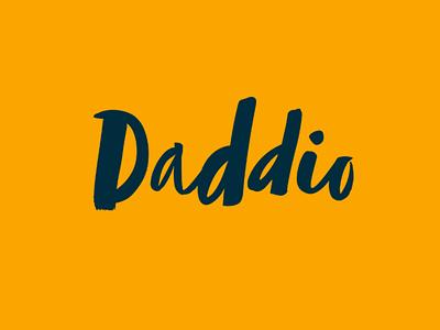 Daddio logo design typography parenting dad logotype andculture identity design brand designer identity logo branding web start-up print brand packaging subscription box