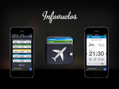 Infovuelos infovuelos plane flight card ticket debut app realtime wallet delay airport on time
