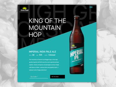Green Flash Landing Page beer
