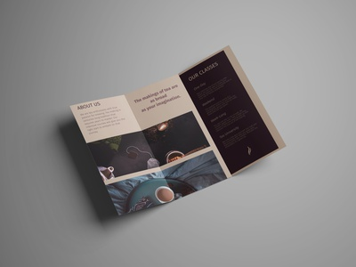 The art of making tea trifold mockup trifold brochure design trifold brochure brochure mockup brochure design affinity designer design