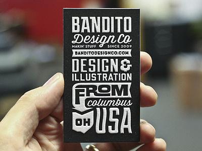 Bandito Card 2 letterpress typography branding bandito design business card logo