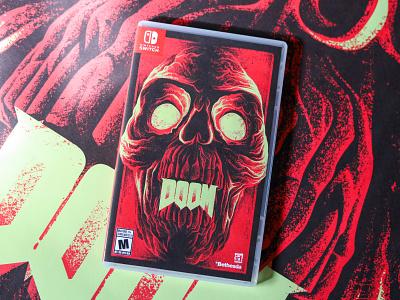 DOOM 2016 packaging doom videogames typography design poster illustration