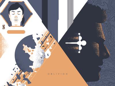 Oblivion design illustration movie poster oblivion tom cruise