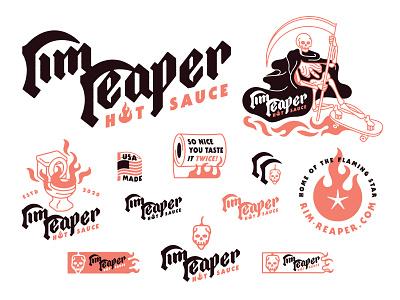 rim reaper packagedesign packaging branding logo vector typography design illustration