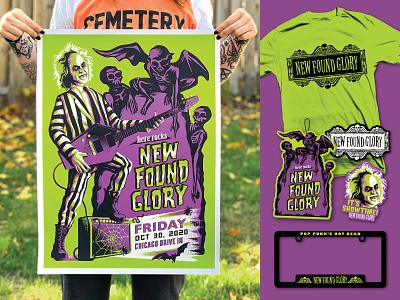 NFG/BJ Merch Set beetlejuice illustration merch movie posters gig posters poster design design