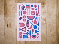 cookin  print