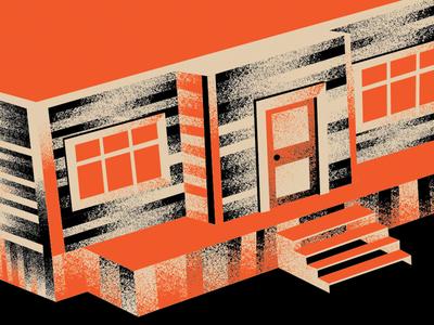 Cabin poster movie poster design illustration screen print horror cabin