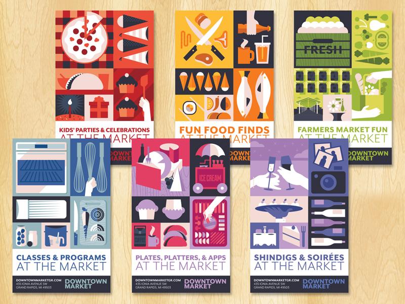 DMGR brochure system branding design illustration marketing brochure book cover