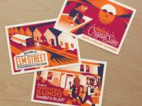 slasher postcards