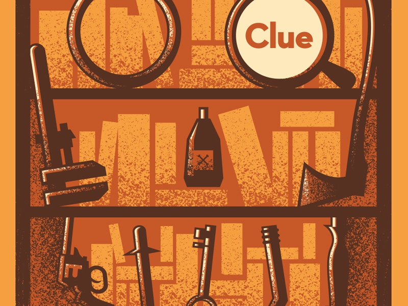 Clue movie poster clue poster vector movie illustration design