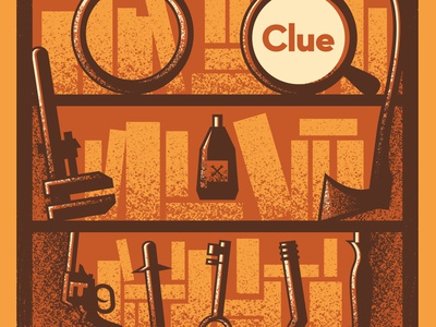 Clue movie poster clue poster vector movie illustration design