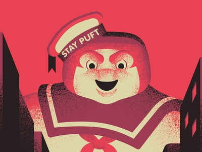 Puft movie poster ghostbusters vector movie illustration design