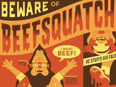 Beefsquatch beefsquatch posters bobs burgers vector tv illustration design