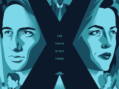 the truth is out there aliens posters the x-files vector tv illustration design