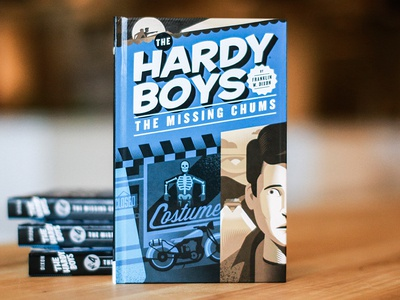 The Hardy Boys Cover hardy boys book cover illustration design