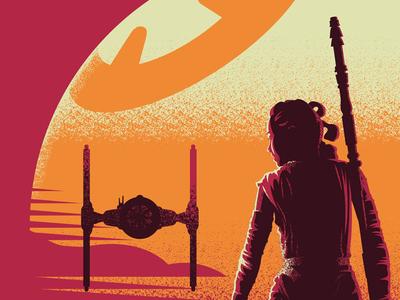 BB on Jakku movie posters star wars vector screen print poster illustration design