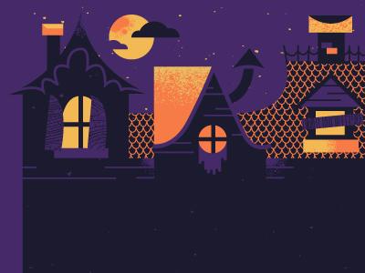 Haunted Mansion illustration design halloween