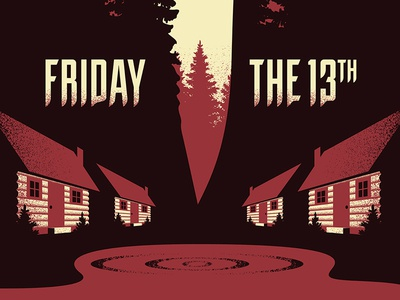 Camp Blood friday the 13th screen print poster movie posters illustration geometric design